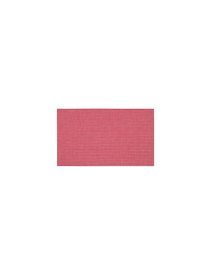 Tela algodón rojo