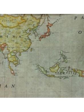 Tejido Loneta Mapa Mundi
